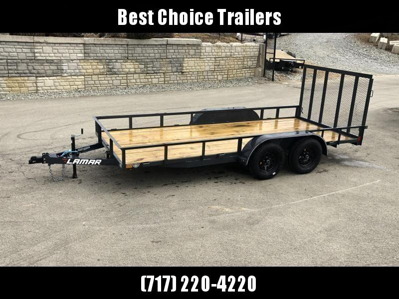 2019 Lamar 7x14' Utility Landscape Trailer 7000# GVW * CHARCOAL * HD GATE W/ SPRING ASSIST * CLEARANCE