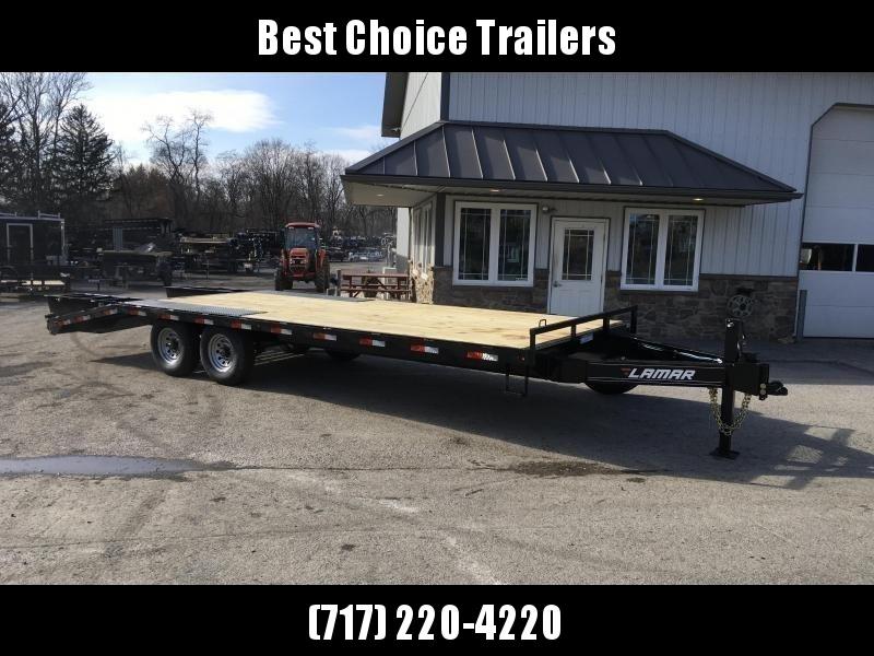 2020 Lamar F8 102x24' Beavertail Deckover Trailer 14000# GVW FLIPOVER RAMPS * CHARCOAL