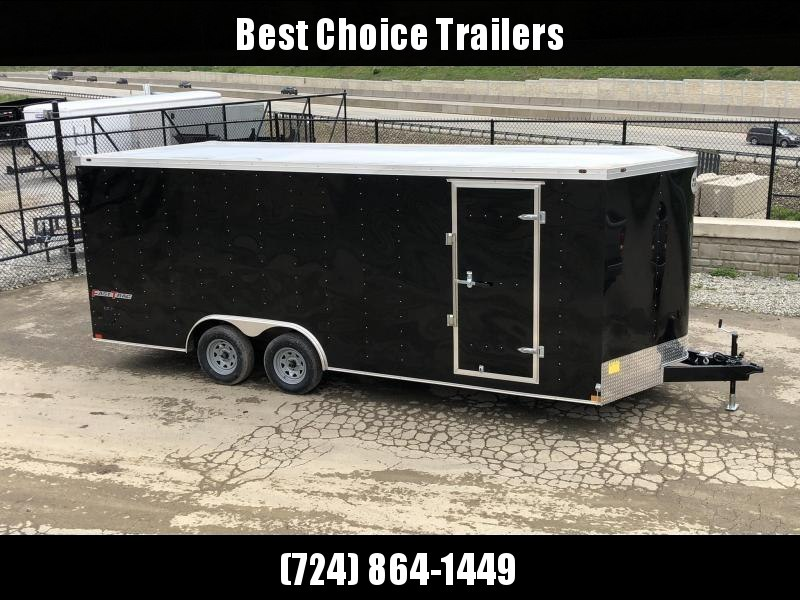 2020 Wells Cargo 8.5x20' Fastrac DELUXE Enclosed Car Trailer 7000# GVW * BLACK EXTERIOR * RAMP DOOR * .030 METAL