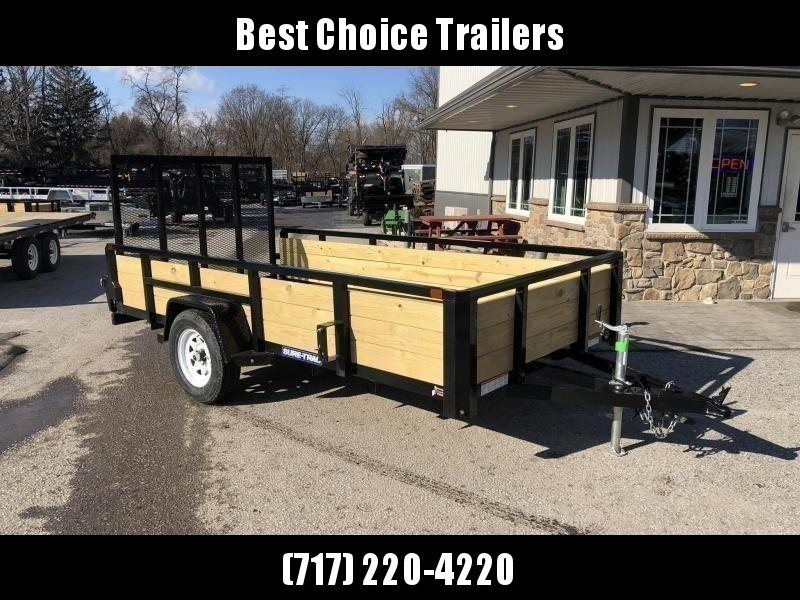 """2020 Sure-Trac 6x12' High Side Utility Landscape Trailer 2990# GVW * 24"""" 3-BOARD HIGH SIDE * 2"""" TUBE TOP RAIL * 2X2"""" TUBE GATE C/M + SPRING ASSIST + FOLD FLAT * TOOLESS GATE REMOVAL * SPARE MOUNT * PROTECTED WIRING * SET BACK JACK * TRIPLE TUBE TONGUE * D"""
