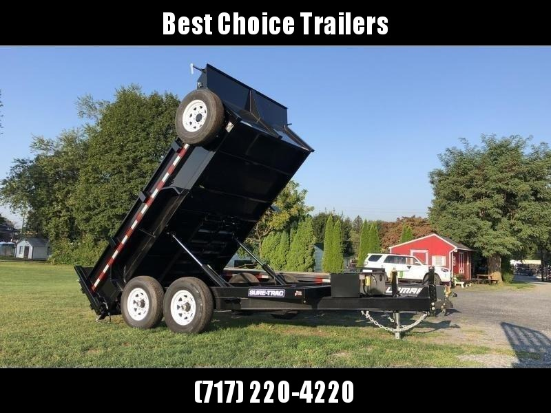 2020 Sure-Trac 7x12' Dump Trailer 12000# GVW * TARP KIT * DUAL PISTON * FRONT/REAR BULKHEAD * INTEGRATED KEYWAY * 2' SIDES * UNDERBODY TOOL TRAY * ADJUSTABLE COUPLER * 110V CHARGER * UNDERMOUNT RAMPS * COMBO GATE * 7K DROP LEG JACK