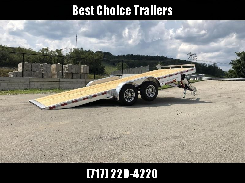 "2020 H&H 7x20' MXA Aluminum Manual Tilt Car Hauler Trailer  9990# GVW * ALUMINUM WHEELS * HEAVY DUTY 8"" FRAME * REMOVABLE FENDERS * CLEARANCE"