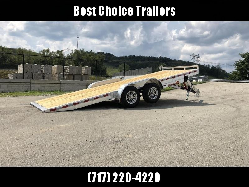 "2020 H&H 7x20' MXA Aluminum Manual Tilt Car Hauler Trailer  9990# GVW * ALUMINUM WHEELS * HEAVY DUTY 8"" FRAME * REMOVABLE FENDERS * CLEARANCE"