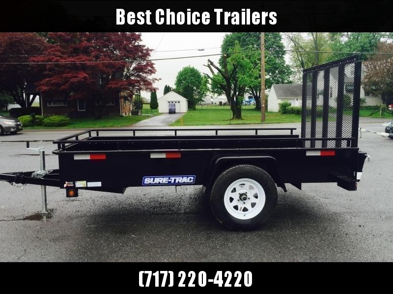 "2020 Sure-Trac 6x12' Solid Side Utility Landscape Trailer 2990# GVW * 2X2"" TUBE GATE C/M + SPRING ASSIST * FOLD FLAT GATE * TOOLESS GATE REMOVAL * SPARE MOUNT * PROTECTED WIRING * SET BACK JACK * TRIPLE TUBE TONGUE * HD FENDERS * TUBE BUMPER * HIGH SIDE"