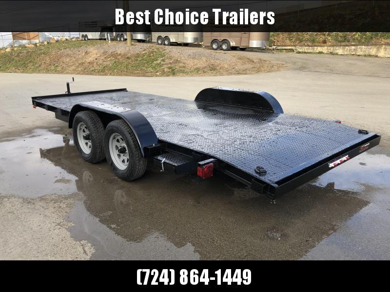2020 AMO 7x18' Steel Deck Car Trailer 7000# GVW