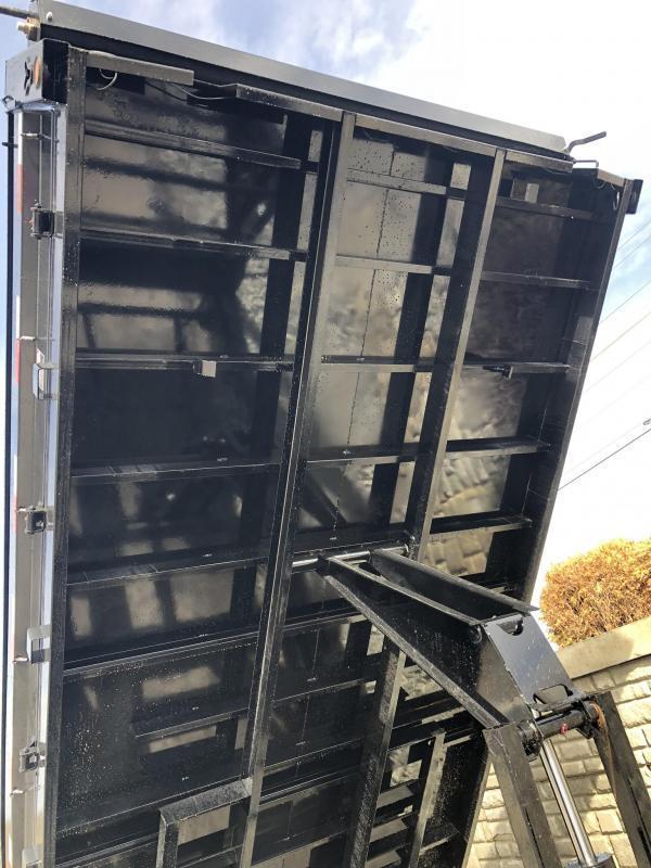 2019 Ironbull 8x14' Gooseneck Deckover Dump Trailer 14000# GVW * TARP KIT * I-BEAM FRAME * BED RUNNERS * FULL FRONT TOOLBOX * DUAL JACKS * FOLD DOWN SIDES * OVERSIZE 5x20 SCISSOR