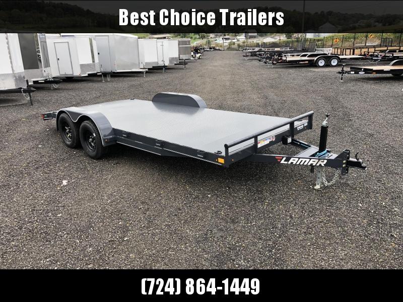 2019 Lamar 7x18' Steel Deck Car Trailer 7000# GVW * 11GA STEEL DECK * CHARCOAL * CLEARANCE