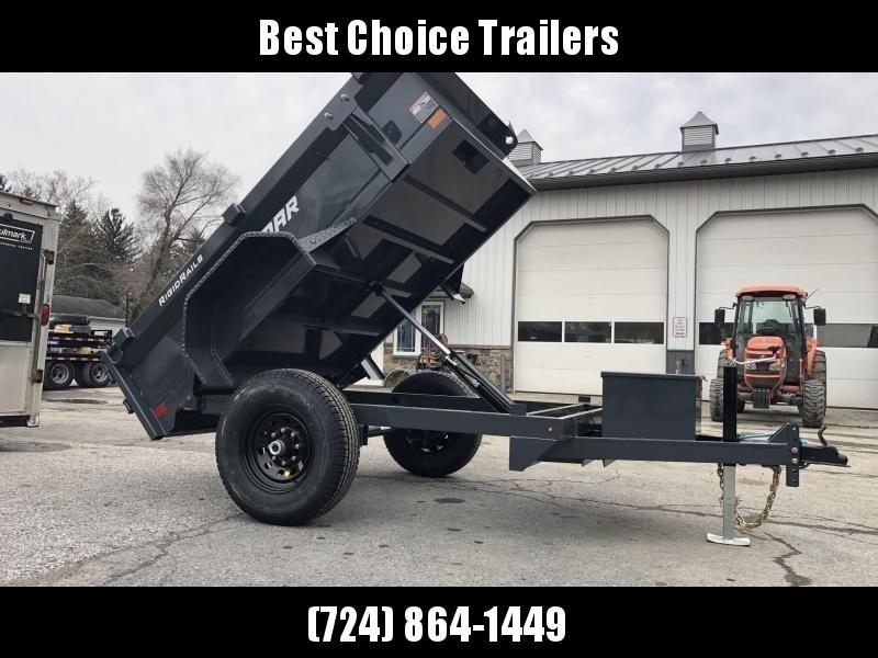 2020 Lamar 5x8' DS60 Dump Trailer 7000# GVW - SINGLE AXLE * TARP * RAMPS * SPARE MOUNT * CHARCOAL
