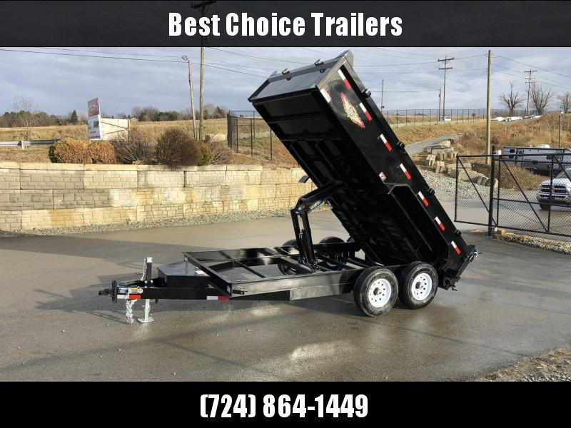 2019 H&H 7X14' 14000# Low Profile Dump Trailer H8314DBW-B-140 * CLEARANCE - FREE ALUMINUM WHEELS