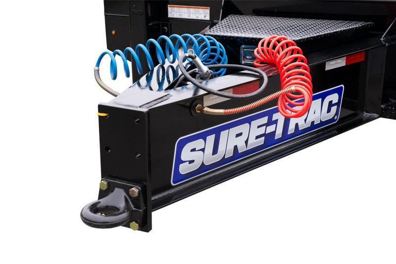 "2020 Sure Trac 102x27' Air Brake Beavertail Deckover Trailer 49000# GVW * 30X80 WOOD FILLED AIR RAMPS * 14"" PIERCED I-BEAM FRAME * 17.5"" 16-PLY * 2"" OAK DECK * HUTCH 9700 SUSPENSION * DUAL 50K 2-SP JACKS * TOOLBOX * (12) 1"" D-RINGS"