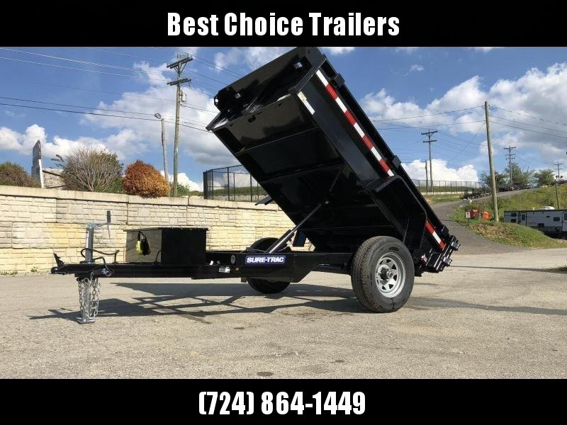 2020 Sure-Trac 5x8' Dump Trailer 5000# GVW BARN DOORS