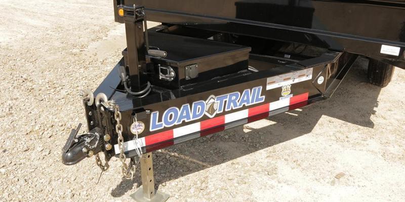 2020 Load Trail 8x16' Deckover Dump Trailer 14000# GVW * DZ9616072 * I-BEAM FRAME * TARP * SCISSOR * FOLD DOWN SIDES * 3-WAY GATE