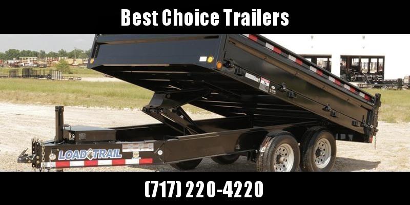 """2020 Load Trail 8x16' Deckover Dump Trailer 14000# GVW * 10"""" I-BEAM FRAME * TARP KIT * SCISSOR HOIST * FOLD DOWN SIDES * 3-WAY GATE * 12K JACK * 6"""" TUBE BED FRAME * 110V CHARGER * 10GA SIDES/FLOOR * INTEGRATED KEYWAY * POWDER PRIMER * DEXTER'S"""