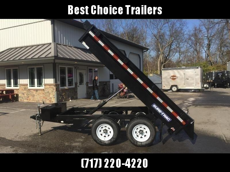 2020 Sure-Trac 6x10' Deckover Dump Trailer 9900# GVW * INTEGRATED KEYWAY * SPARE MOUNT * TARP PREP * D-RINGS * POWER UP/ DOWN * TRIPLE TUBE TONGUE * BULLET LED'S * RADIALS * POWDERCOATED * SEALED HARNESS