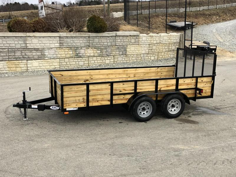 2020 AMO 78x16' High Side Utility Landscape Trailer 7000# GVW * 4-BOARD HIGH SIDE * 2' SIDES * TOOLESS GATE REMOVAL * TIE DOWNS * LED'S