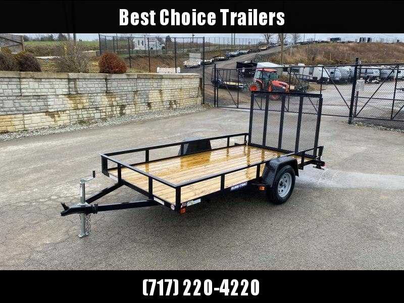"2020 Sure-Trac 6x12' Utility Landscape Trailer 2990# GVW * 2X2"" TUBE GATE C/M + FOLD FLAT * TOOLESS GATE REMOVAL * CHANNEL TONGUE * REAR BOARD RETAINER * HD FENDERS * ZINC JACK * RADIAL TIRES * POWDERCOATED"