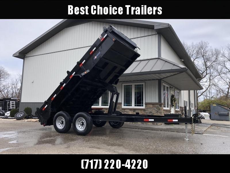 2020 Ironbull 7x14' Dump Trailer 14000# GVW * RAMPS * TARP * SCISSOR * I-BEAM FRAME * 3-WAY GATE