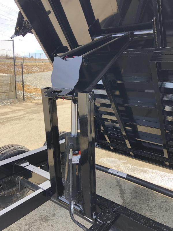 "2019 Load Trail 7x14' Dump Trailer 14000# GVW * DT8314072 * SOLAR * 8"" I-BEAM FRAME * 12K JACK * 3-WAY GATE * TARP KIT * SCISSOR HOIST * 10GA 2PC SIDES & FLOOR * 6"" TUBE BED FRAME * 110V CHARGER"