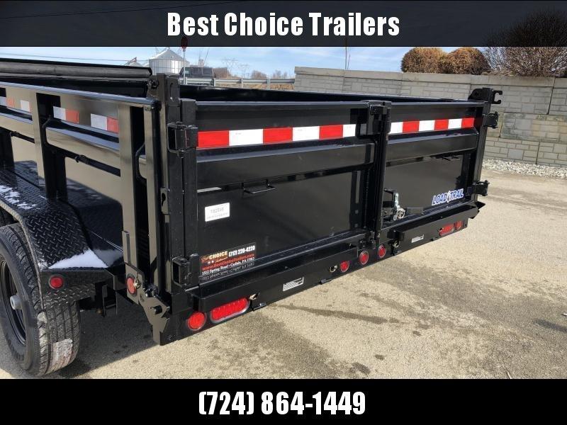 """2019 Load Trail 7x14' Dump Trailer 14000# GVW * DT8314072 * SOLAR * 8"""" I-BEAM FRAME * 12K JACK * 3-WAY GATE * TARP KIT * SCISSOR HOIST * 10GA 2PC SIDES & FLOOR * 6"""" TUBE BED FRAME * 110V CHARGER * DEXTER'S * 2-3-2 * POWDER PRIMER"""