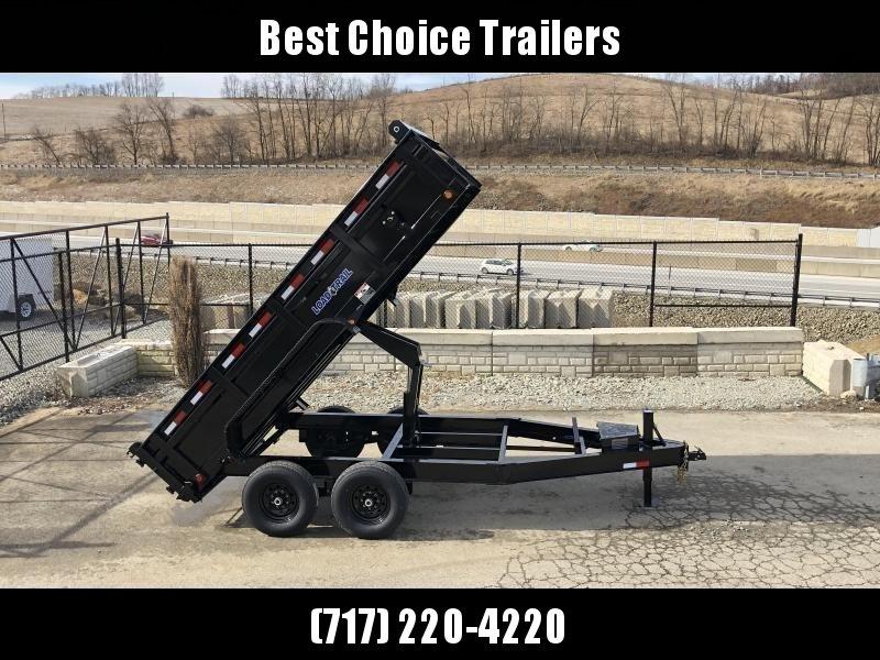 """2019 Load Trail 7x14' Dump Trailer 14000# GVW * DT8314072 * SOLAR * 8"""" I-BEAM FRAME * 12K JACK * 3-WAY GATE * TARP KIT * SCISSOR HOIST * 10GA 2PC SIDES & FLOOR * 6"""" TUBE BED FRAME * 110V CHARGER"""