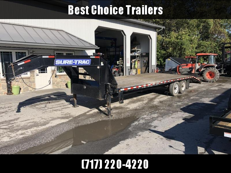 USED 2016 Sure-Trac 102x20+5 Gooseneck Beavertail Deckover Trailer