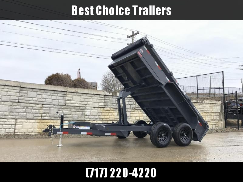 2020 Lamar DM 77x12' 9990# GVW Low Profile Dump Trailer * SCISSOR HOIST * DROP JACK * DELUXE TARP KIT * ADJUSTABLE COUPLER * CHARCOAL * SPARE MT