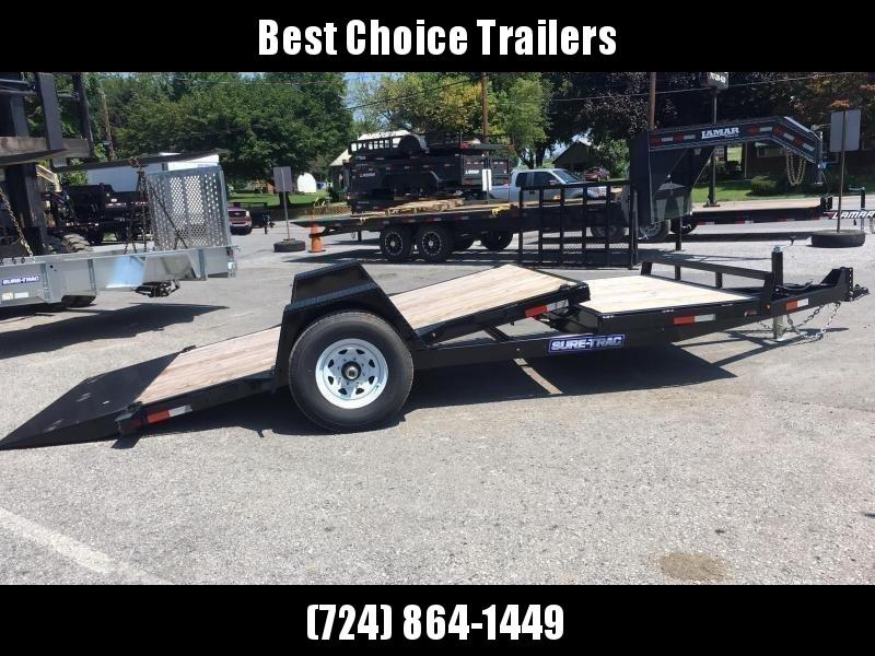 "2019 Sure-Trac 78""x12+4' Tilt Equipment Trailer Scissor Hauler 7800# GVW * OAK DECK * TOOLBOX * CLEARANCE"