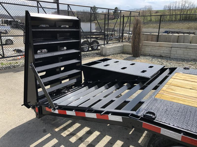 "2020 Sure-Trac 102x25+5' LowPro Beavertail Deckover Trailer 17600# GVW * 8000# AXLES * PIERCED FRAME * FULL WIDTH RAMPS * 12"" I-BEAM"