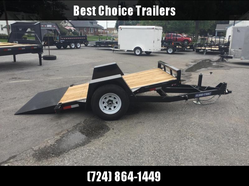 2019 Sure-Trac 5x10' Cushion Tilt Equipment Trailer Scissor Hauler 5000# GVW * TUBE FRAME * EXTENDED TONGUE * ADJUSTABLE CAST COUPLER * DROP LEG JACK * TORSION AXLE * RUBRAIL/STAKE POCKETS/D-RINGS * CLEARANCE