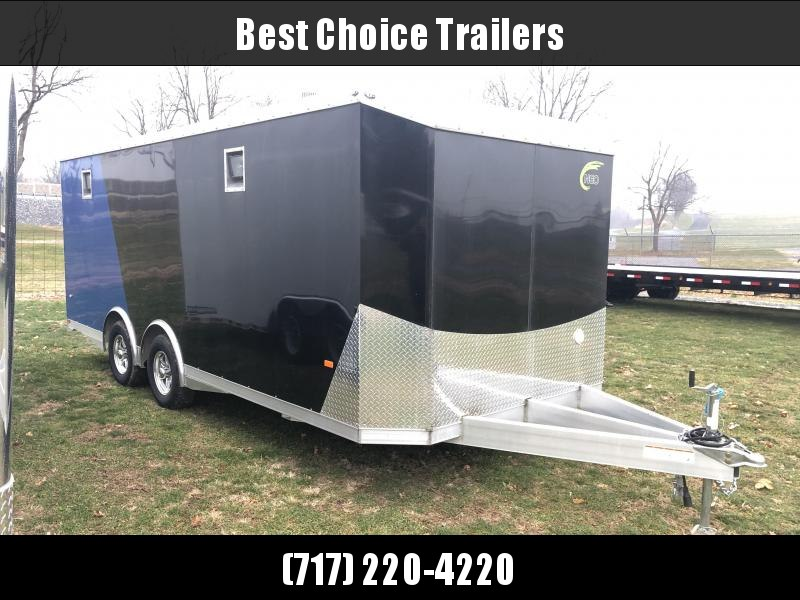 NEW NEO 8.5x20' NACX Aluminum Spread Axle Round Top Enclosed Car Hauler Trailer 9990# GVW * GENERATOR DOOR * VINYL CEILING * 4-LED STRIP LIGHT * A/C UNIT * 50 AMP ALEC * EXTRUDED FLOOR/RAMP * CLEARANCE