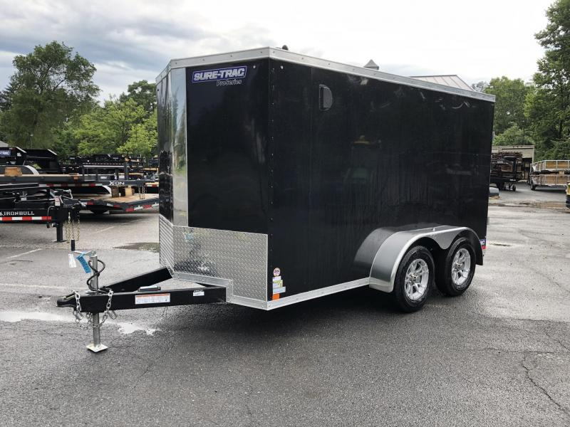 2019 Sure-Trac 6x12' Enclosed Cargo Trailer 7000# GVW * BLACK * BARN DOORS * LOADED