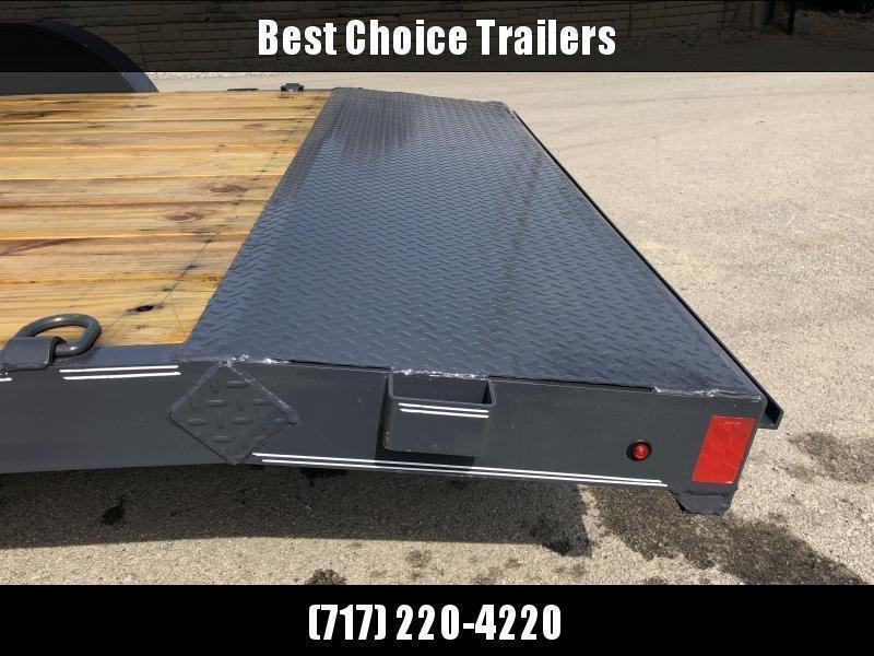 2020 Lamar 7x16 7000# Wood Deck Car Hauler Trailer * ADJUSTABLE COUPLER * DROP LEG JACK * REMOVABLE FENDERS * EXTRA STAKE POCKETS * CHARCOAL * 4 D-RINGS