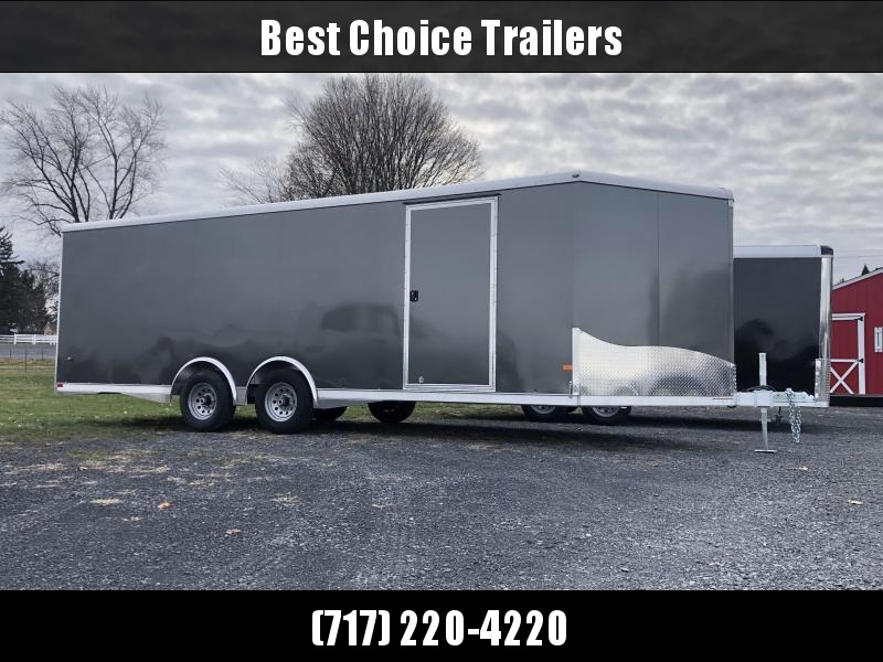 2020 NEO Aluminum 8.5x20' 9900# Enclosed Car Trailer * NCBS2285 * ESCAPE DOOR * ALUMINUM WHEELS * 5200# AXLES * DEXTER TORSION * ROUND TOP * NXP RAMP * SPREAD AXLE