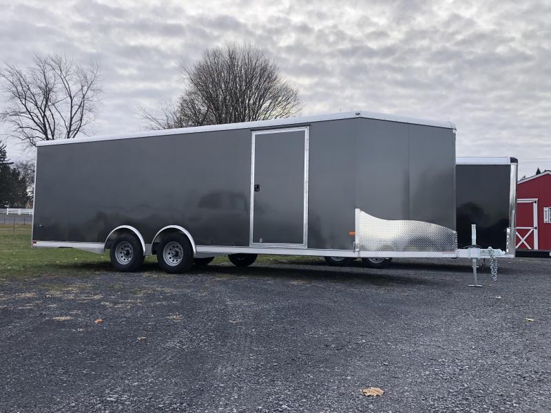 2020 NEO Aluminum 8.5x20' 9900# Enclosed Car Trailer * NCBS2285 * ESCAPE DOOR * ALUMINUM WHEELS * 5200# AXLES * DEXTER TORSION * ROUND TOP * NXP RAMP * SPREAD AXLE