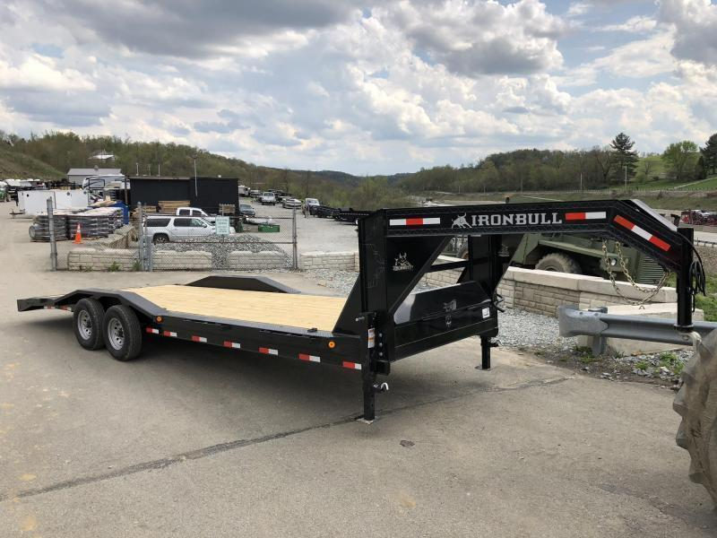 "USED 2018 Ironbull 102x20' Gooseneck Car Hauler Equipment Trailer 14000# GVW * FULL WIDTH RAMPS * 102"" DECK * DRIVE OVER FENDERS * BUGGY HAULER"