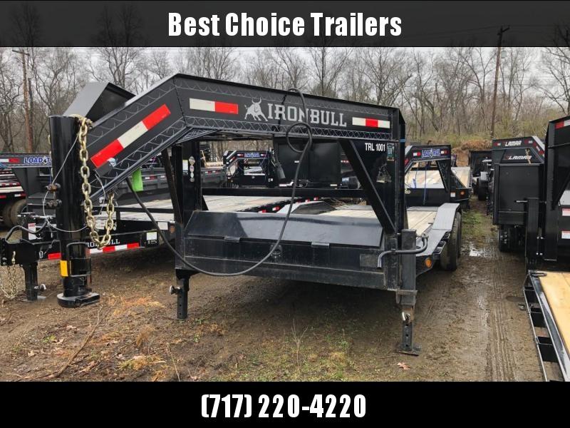 """USED 2018 Ironbull 102x20' Gooseneck Car Hauler Equipment Trailer 14000# GVW * FULL WIDTH RAMPS * 102"""" DECK * DRIVE OVER FENDERS * BUGGY HAULER"""