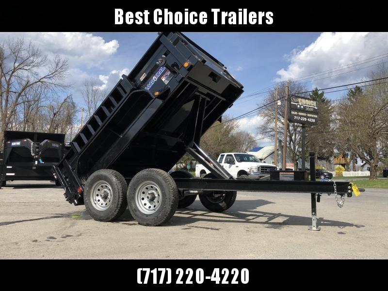 """2020 Load Trail 7x10' Dump Trailer 9990# GVW * DT8310052 * 2' SIDES * 3-WAY GATE * I-BEAM FRAME * TARP KIT * SCISSOR HOIST * 16"""" RUBBER * 6"""" TUBE BED FRAME * 110V CHARGER * DEXTER'S * 2-3-2 * POWDER PRIMER"""