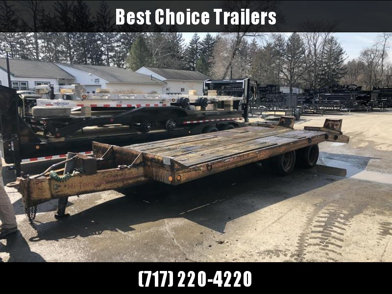 USED Eager Beaver 102x20+5' Flatbed Trailer 25544# GVW