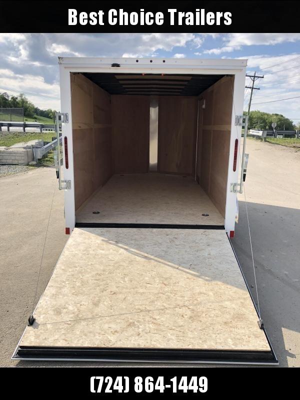 2020 Wells Cargo 7x16' Fastrac Enclosed Cargo Trailer 7000# GVW * WHITE * RAMP DOOR * V-NOSE