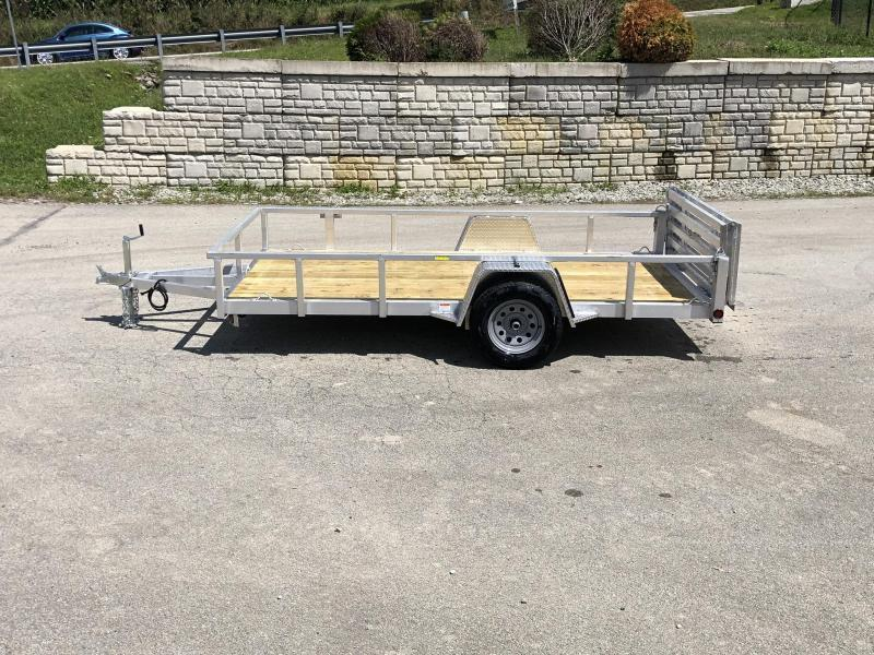2020 QSA 6x12 Deluxe Aluminum Utility Trailer 2990# * DROP AXLES * HD TOPRAIL * BI-FOLD GATE * INTEGRATED FRAME * TUBE FRAME * CLEARANCE