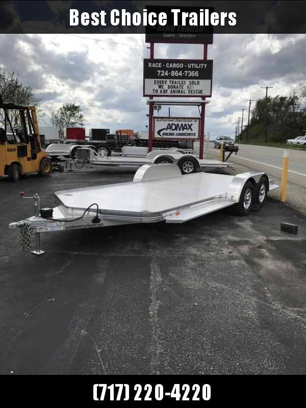 2019 Sundowner Trailers 7x19' 8050# GVW All Aluminum Car Hauler Trailer CH20BP * TORSION * EXTRUDED FLOOR * POLISHED * CLEARANCE