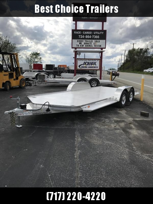 2019 Sundowner Trailers 7x19' All Aluminum Car Hauler Trailer 8050# GVW * TORSION * EXTRUDED FLOOR * POLISHED * CLEARANCE