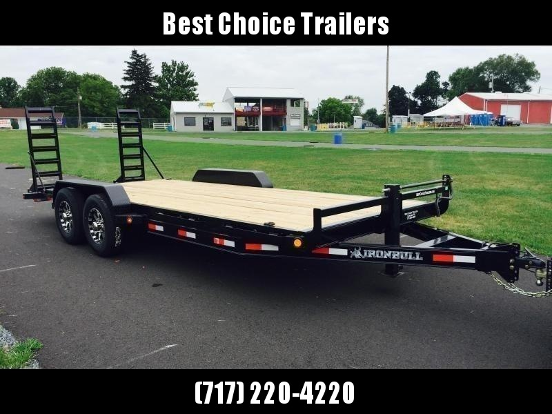 "2019 Ironbull 7x18' Equipment Trailer 14000# GVW * KNIFEEDGE RAMP W/ ADJUSTABLE SUPPORT * REMOVABLE FENDERS * 16"" O.C. STRUCTURAL CHANNEL C/M * RUBRAIL/STAKE POCKETS/PIPE SPOOLS/D-RINGS * ADJUSTABLE CAST COUPLER * 12K JACK * CLEARANCE"