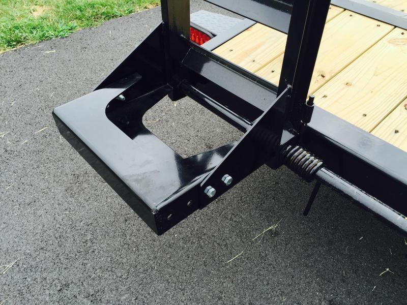 2019 Ironbull 7x18' Equipment Trailer 14000# GVW * RUBRAIL/STAKE POCKETS/PIPE SPOOLS/D-RINGS * ADJUSTABLE KNEE * KNIFEEDGE RAMP * REMOVABLE FENDERS * CLEARANCE