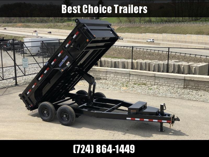 "2019 Load Trail 7x14' Dump Trailer 14000# GVW * DH8314072 * 7 GAUGE FLOOR * EXTRA 2-TIER TOOLBOX * EXTENDED TONGUE * MAX RAIL * 8"" I-BEAM FRAME * 12K JACK * 3-WAY GATE * TARP KIT * SCISSOR HOIST * 6"" TUBE BED FRAME * CLEARANCE"