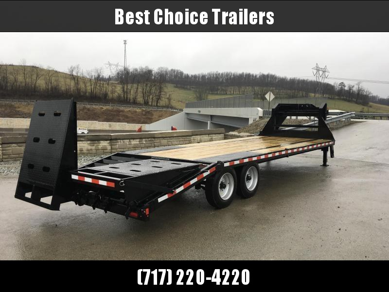 2020 Sure-Trac 102x25+5 17600# Gooseneck Beavertail Deckover Trailer * 8000# AXLE UPGRADE * PIERCED FRAME * FULL WIDTH RAMPS