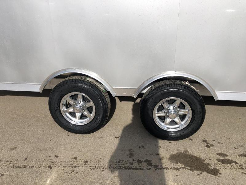 2020 NEO 8.5x22' NMS Aluminum Round Top Enclosed All Sport Car Hauler Trailer 9990# GVW NMS2285TR * LOADED * SILVER EXTERIOR * BIKES UTV'S SNOWMOBILE CARS ATV'S
