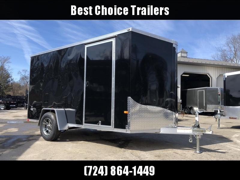 2020 Neo 6x12' NAVF Aluminum Enclosed Cargo Trailer * RAMP DOOR * BLACK * ALUMINUM WHEELS