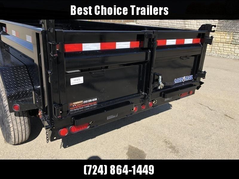 "2020 Load Trail 6x12' Dump Trailer 9990# GVW * DT7212052 * 2' SIDES * 3-WAY GATE * I-BEAM FRAME * TARP KIT * SCISSOR HOIST * 16"" RUBBER * 6"" TUBE BED FRAME * 110V CHARGER * DEXTER'S * 2-3-2 * POWDER PRIMER"