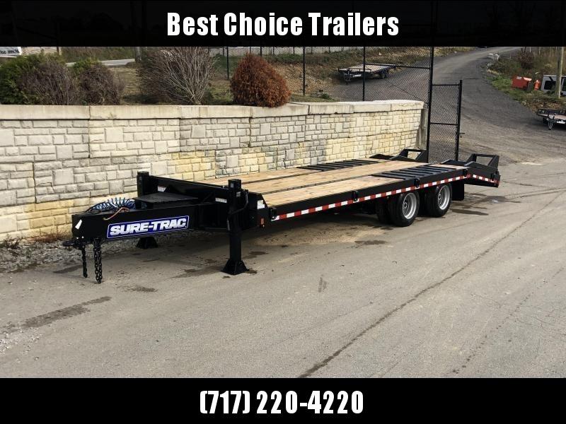2020 Sure Trac  102x25' Air Brake Beavertail Deckover Trailer 49000# GVW * ST102205ABDO2A-B-490
